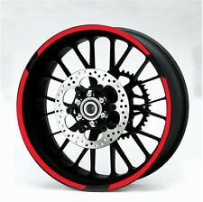 Motorbike Wheel Rim Reflective Metallic RED 600mm 7mm Strip Tape Decal Sticker