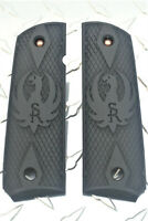 Ruger SR Double Diamond Blackout Polymer 1911 Grips Full Size Commander