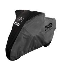 Oxford Dormex Indoor Motorcycle Dust Cover Motorbike Covers Black/Grey - Medium
