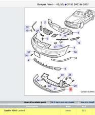 Genuine Saab 2003-2007 9-3 Aero Front Spoiler Lip New 32016151 Free Shipping!
