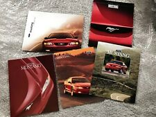 5 X 1990s FORD MUSTANG CAR BROCHURES