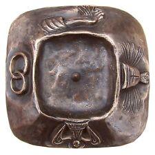 Taufkerzenleuchter 4 Symbole Bronze 15 cm Edelpatina braun baptism candle holder