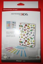 Nintendo Mario Universal Stylus 10-Pack 3DS-3DSXL-DSi-DSiXL New! Free Shipping!