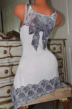 UNIT USA  soft elasticated A line top tunic mini dress bow detail  size Small