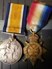 WWI British Star and War Medal Pair    SAEC