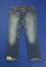 Donna Slim Tubo Skinny Fit blu lavaggio scuro jeans denim effetto invecchiato 6-16
