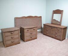 Wicker 5 Piece King Bedroom Furniture Set