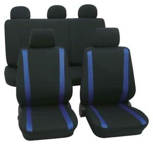 Samoa blau schwarz Autositzbezug Schonbezüge Sitzbezüge Schonbezug