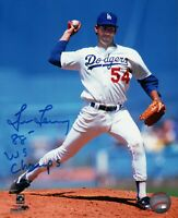 "Tim Leary Signed 8X10 Photo ""88 WS Champs"" Autograph LA Dodgers Auto w/COA"