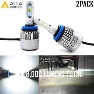 Alla Lighting LED Chip Scale Package H9 Driving Fog Light Bulb|hd-light ,White