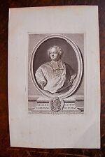 ARMAND GASTON CARDINAL DE ROHAN . PORTRAIT, GRAVURE ORIGINALE , 1760