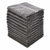 "Alurri Washcloth Towel Set, 24-Pack 13"" x 13"" Black, Grey, Brown, White"