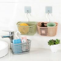 Bathroom Kitchen Shower Storage Box Holders Hanging Hook Shelf Basket Organiser