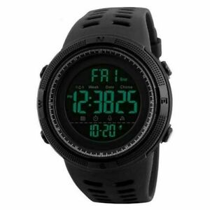Mens Military Sports LED Large Face Digital Watch Screen Large Face Waterproof
