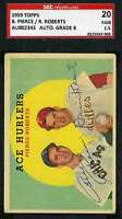Robin Roberts Bill Pierce 1959 Topps Hand Signed Sgc Authentic Autograph