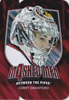 11-12 ITG Corey Crawford Masked Men 4 Between The Pipes Blackhawks 2011