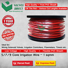 5/7/9 core / Multi core Irrigation wire/cable 1.0 sqmm - Meter Cut Lengths