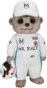 Baby Meerkat Racing Driver Highly Detailed Garden Decoration