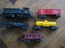 Lionel Diesel Switcher Erie  #610 with 4 extra cars