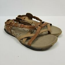 Merrell Performance Footwear Ankle Wrap San Remo Tan Strappy Sandal Size 5