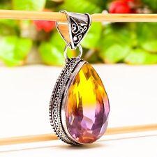"Wonderful Ametrine Gemstone Vintage Style Jewelry Pendant 1.97"" P-925"