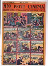 récit complet Mon Petit Cinéma n°18. Les deux dormeurs. 1955 Ed. Modernes