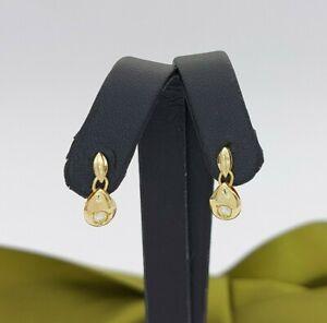 Ladies 18ct Yellow Gold (750,18K) Diamond (0.10ct) Tear Dangle Stud Earrings