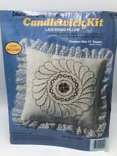 "Lace Edge Pillow Candlewick Kit 13"" Creative  Moments Paragon 8264 Pinwheel"