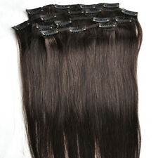 """14"""" 15"""" Clip In Remy Hair Extensions 100% Real Human Hair Black Blonde Brown Red"""
