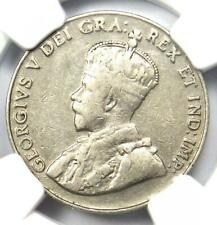 1926 Canada George V 5 Cent Coin (Far 6) - Certified NGC VF30 - Rare Coin!