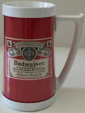 Budweiser Beer Thermo-Serv Advertising Insulated 16oz Mug