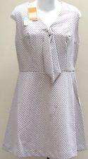 "Vintage 1960s dress 14 beige spots Bust 36"" BRADREX Crimplene UNUSED shop soiled"