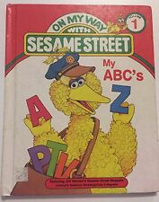 On My Way With Sesame Street My ABC'S 1989 Board Book