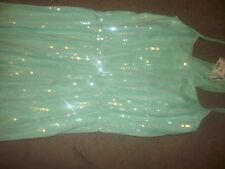 NWT Aeropostale Girls Junior's Green Sequin Dress Size Medium Tagged $54.50 (B75