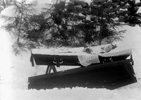 Antique Post Mortem Winter Casket Photo 224b Odd Strange & Bizarre