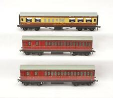 Litho Restaurant Car and two Coaches Hornby Dublo by Meccano Ga. Oo