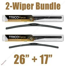 "2-Wipers: 26"" + 17"" Trico Force All-Season Beam Wiper Blades - 25-260 25-170"