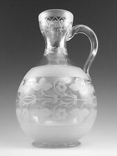 RICHARDSONS Crystal - Antique Glass Water Jug - 8 3/4""