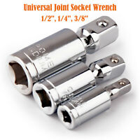 "Universal Joint Set Ratchet Angle Extension Bar Socket Adapter 1/4"" 3/8"" 1/2"""