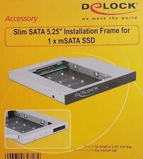 Delock Einbaurahmen Slim 5.25 für 1x mSATA SSD Slim SATA 13 Pin Buchse > mSATA