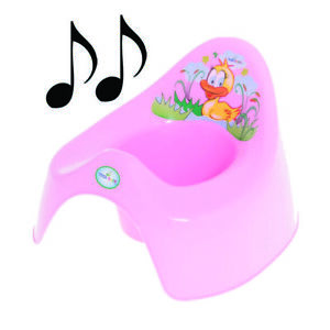 Easy Clean Toilet Potty Training Baby Kids Toddler Colourful Animal Duck (Pink)