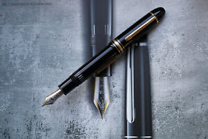 "1980's vintage MONTBLANC 149 Fountain pen - Black - 18 K ""EF"" Nib - Mint"