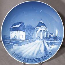 Bing & Grondahl 1960 Christmas Plate ØSterlars Danish Village Church