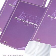 A4 24 Page Music Manuscript Sheet Notebook Blank 12 Stave Notation Paper Pad