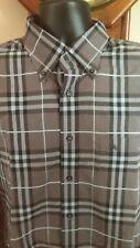 BURBERRY LONDON Men Plaid Shirt Long Sleeve Size XL