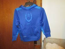 NIKE BOY'S THERMA FIT LONG SLEEVE BLUE HOODED SWEATSHIRT SIZE S(7-8) 100% POLY