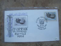 1964 Austria First Day Cover / FDC - Innsbruck Winter Olympics - Bob Sled