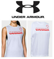 🆕Under Armour Women's Muscle/Tank Graphic T-shirt CANADA  XS Red White