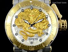 Invicta Men's 52mm Coalition Forces GOLD Dragon AUTOMATIC Silver Bracelet Watch
