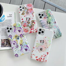 For iPhone 11 Pro Max XR XS X 8 7+ Flower Leaf Pattern Silicone Soft Case Cover
